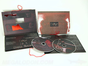 custom cd replication book die cut string ribbon embossing